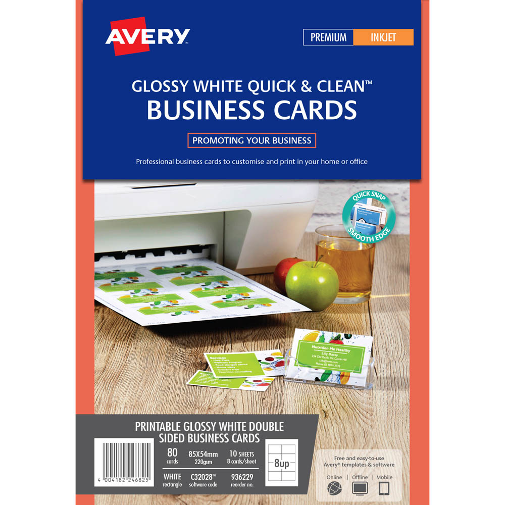 avery 936229 c32028 business card template gloss 85 x 54mm white