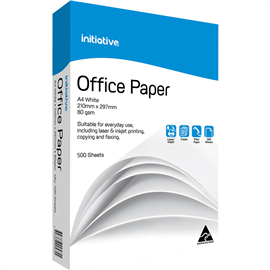 INITIATIVE A4 OFFICE COPY PAPER 80GSM WHITE 500 SHEETS