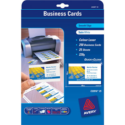 Avery 936223 c32096 quick clean business cards inkjet matt linen avery 936223 c32096 quick clean business cards inkjet matt linen finish 250gsm pack 80 reheart Image collections