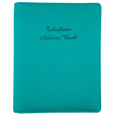 cumberland address book pu cover 6 ring with a z tabs 210 x 148mm teal