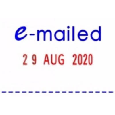 DESKMATE SELF INKING STAMP EMAILED AND DATE BL