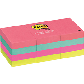 POST-IT 653-AN MINI NOTES 36 X 48MM CAPE TOWN PACK 12
