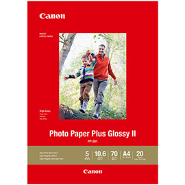 CANON PP301 GLOSSY PHOTO PAPER 265GSM A4 PACK 20
