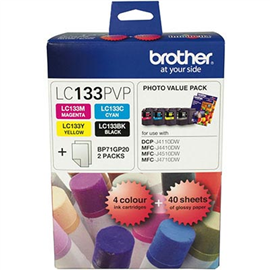 BROTHER LC133 INK CARTRIDGE PHOTO VALUE PACK