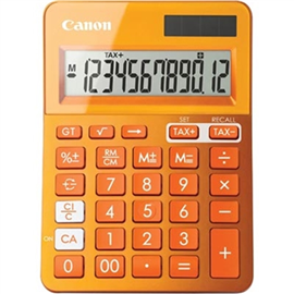 CANON LS-123M CALCULATOR 12 DIGIT DUAL POWER METALIC ORANGE