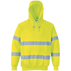 PORTWEST B304 FLEECE HOODIE WITH TAPE
